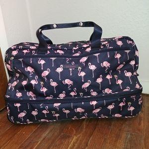 Flamingo Fiesta Lighten Up Foldable Rolling Duffel